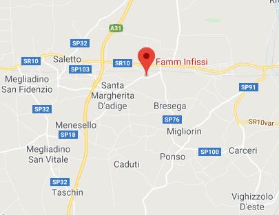 Mappa Famm Infissi Padova